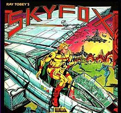 "The game box for Skyfox was one of Electronic Arts' ""record album"" package of the 1980s."