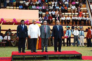 Sarath Amunugama - Prof Amunugama (right) Opening Ceremony of the Sri Lanka University Games