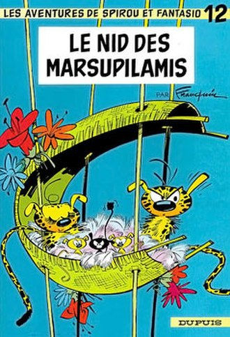 Le nid des Marsupilamis - Cover of the Belgian edition