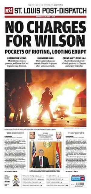 St. Louis Post-Dispatch - Image: St. Louis Post Dispatch cover 11.25.2014