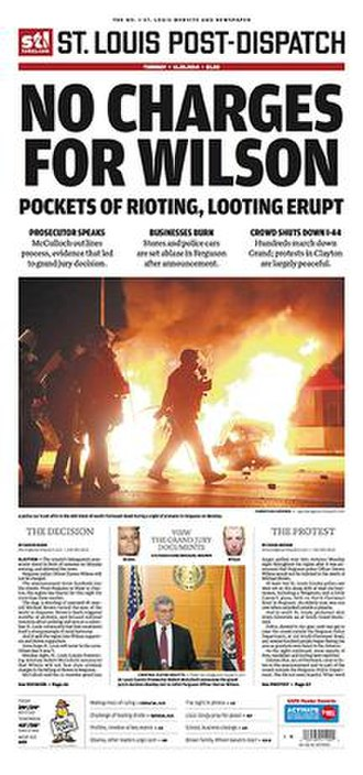 St. Louis Post-Dispatch - Image: St. Louis Post Dispatch cover 11.25.2014