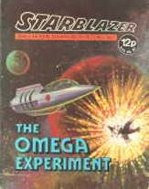 Starblazer - The Early Style of Starblazer cover with the single pane colour cover  This is Issue 1, released in 1979.