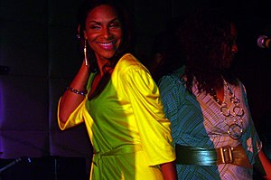 Ray Ray - Teedra Moses (pictured in 2007) duetted with Saadiq on two of the album's songs.