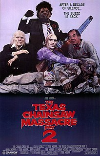 <i>The Texas Chainsaw Massacre 2</i> 1986 film by Tobe Hooper