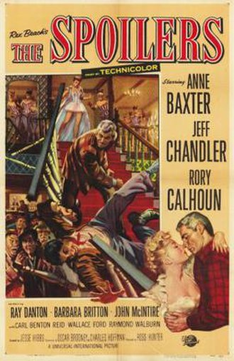 The Spoilers (1955 film) - Film poster by Reynold Brown