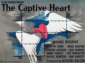 The Captive Heart - Original British 1946 quad film poster