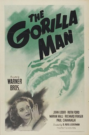 The Gorilla Man - Theatrical release poster