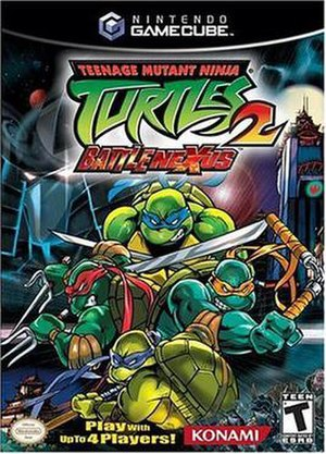 Teenage Mutant Ninja Turtles 2: Battle Nexus - North American GameCube cover art