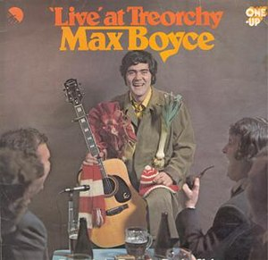 The original 'Live at Treorchy' LP cover