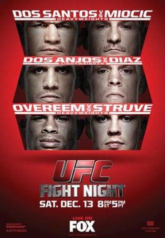 UFC on Fox: dos Santos vs. Miocic - Image: UFC on FOX 13