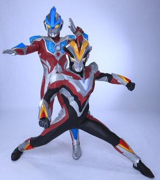 Ultraman Ginga S - The series' two main Ultra Warriors consisting of Ultraman Ginga Strium (back) and Ultraman Victory (front).