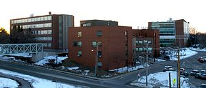 University of Southern Maine - Luther Bonney, Masterton Hall, and the Science building at USM's Portland Campus
