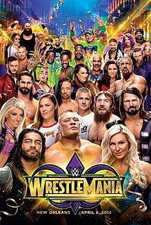 WrestleMania 34 2018 WWE pay-per-view and WWE Network event