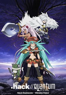 <i>.hack//Quantum</i> Animated three episode OVA series by Kinema Citrus studio in Japan and presented by Bandai Visual
