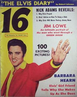 16 (magazine) - Cover of the very first issue of 16 Magazine May 1957