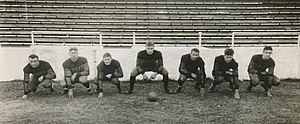 1928 Florida Gators football team - The Gator linemen in formation.