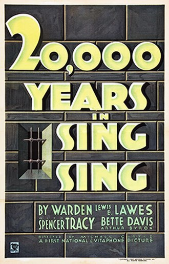 20,000 Years in Sing Sing - Theatrical release poster