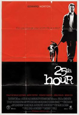 25th Hour - Theatrical release poster
