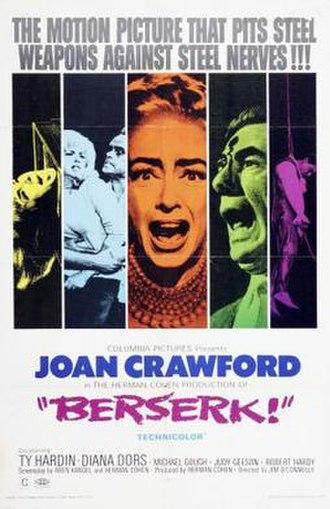 Berserk! - Original theatrical poster