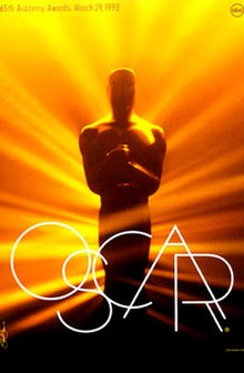 Official poster promoting the 65th Academy Awards in 1993.