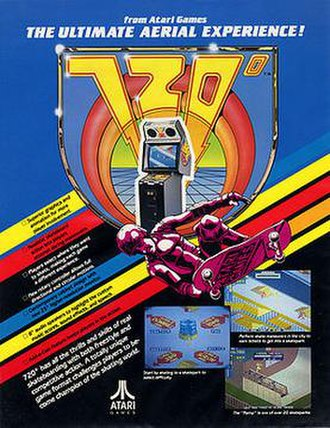720° - Promotional artwork for the arcade game
