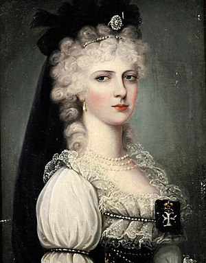 Grand Duchess Alexandra Pavlovna of Russia - Grand Duchess Alexandra Pavlovna, Archduchess of Austria and Palatina of Hungary, in Hungarian dress, ca. 1800.