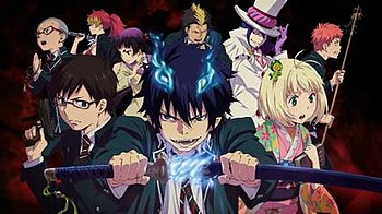 The main characters of Blue Exorcist Clockwise...
