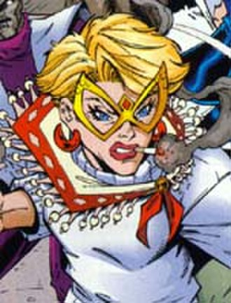 Arrowette - The adult Bonnie King appears in Young Justice.