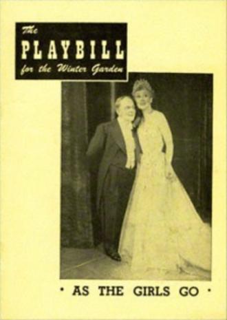 As the Girls Go - Original Broadway playbill