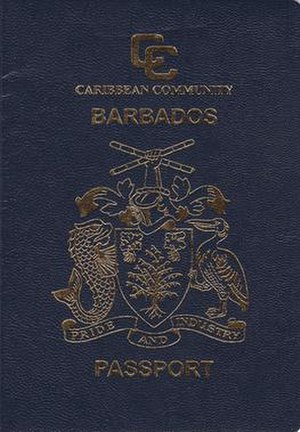 Barbados passport - Barbados passport front cover