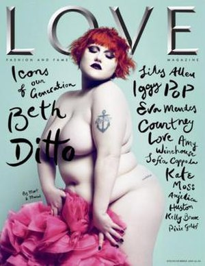 Love (magazine) - The cover of the debut issue, featuring Beth Ditto