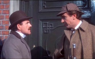 Colin Blakely - Colin Blakely as Dr. John H. Watson (left) and  Robert Stephens as Sherlock Holmes in Billy Wilder's  The Private Life of Sherlock Holmes