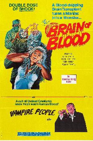 Brain of Blood - Publicity poster for Brain of Blood