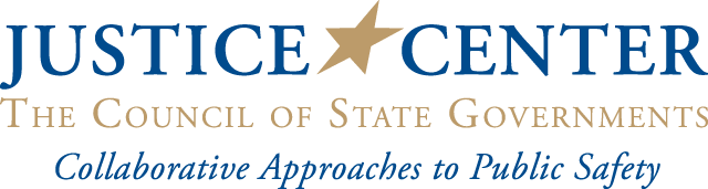 CSG Justice Center logo and motto