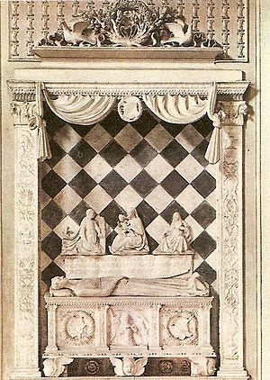 Cappella Colleoni - The funerary monument to Medea Colleoni, by Giovanni Antonio Amadeo.