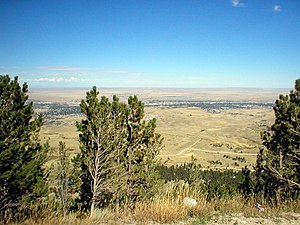 Casper Mountain - Casper, as seen from the summit of the mountain.