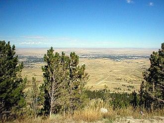 Casper Mountain - Casper, as seen from the summit of the mountain.