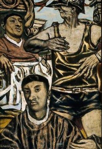 David Aronson - Christ Before Pilate by David Aronson, 1949