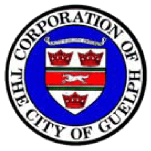 Guelph Transit - Most buses still carry the old city crest, as the new branding gets phased in
