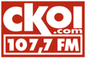 CKOY-FM - Short-lived Corus-era CKOI 107,7 logo, used during the first two weeks of February 2011.