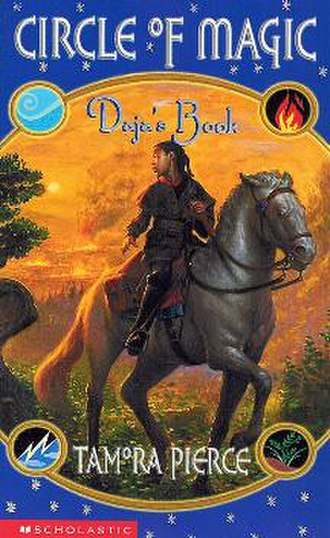 Daja's Book - Cover of the paperback, showing Daja riding a horse.