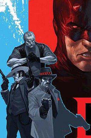 Enforcers (comics) - Image: Daredevil vol. 2, 102 (Jan, 2008) artwork