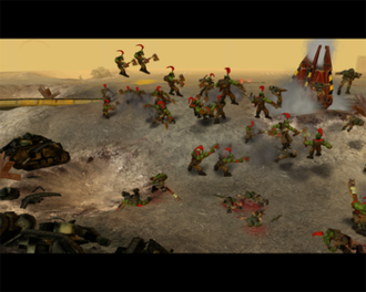Warhammer 40,000: Dawn of War - The Blood Ravens make planetfall.