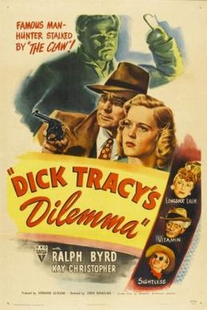Dick Tracy's Dilemma - Theatrical Poster
