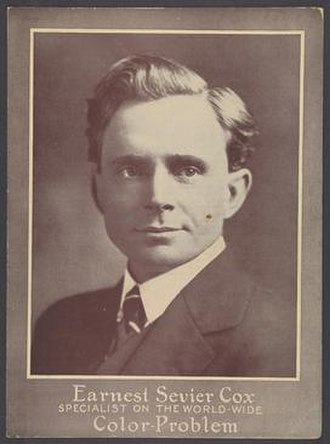 Earnest Sevier Cox - Self-published promotional photo of Cox from 1930