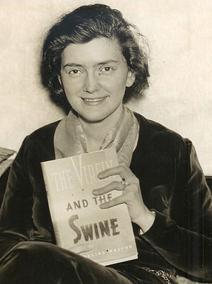 Evangeline Walton - Evangeline Walton with her first edition, 1936