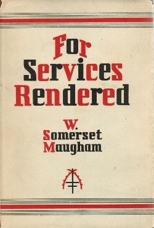 For Services Rendered - First edition (publ. Heinemann)