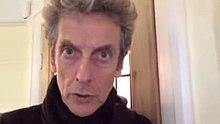 Peter Capaldi looking at the camera