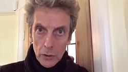 Peter Capaldi looking at the camera