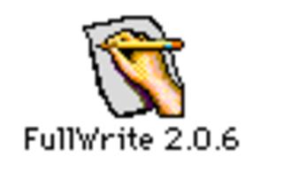 FullWrite Professional word processor application for the Apple Macintosh